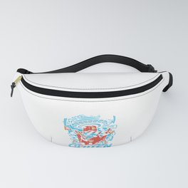 UFO Puns Food Lovers Pizza Gift Too Cool For Gluten Foodies Fanny Pack