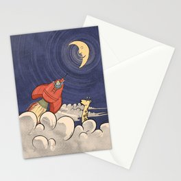Happy Rocketeer Stationery Cards