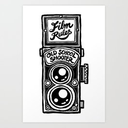 Analog Film Camera Medium Format Photography Shooter Art Print