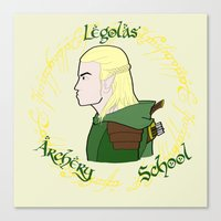 legolas Canvas Prints featuring Legolas by Art of Tyler Newcomb