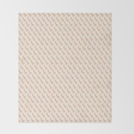Practically Perfect - Penis in Cream Throw Blanket