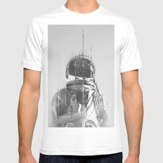 The Space Beyond B&W Astronaut White MEDIUM Mens Fitted Tee