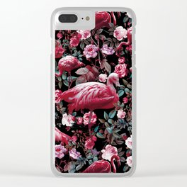 Floral and Flamingo VIII pattern Clear iPhone Case