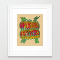 hakuna Framed Art Prints featuring Hakuna Color by Diego Tirigall