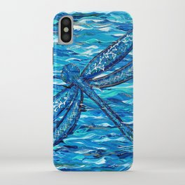 Blue Dragonfly Painting iPhone Case