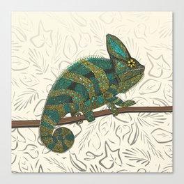 veiled chameleon pearl Canvas Print