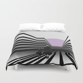Stay in the lines ... Duvet Cover