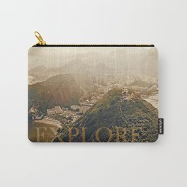 explore. golden Carry-All Pouch