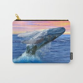 Breaching Humpback Whale at Sunset Carry-All Pouch
