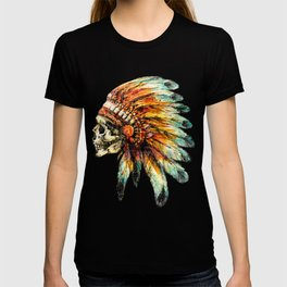 Skull Colorful Chief T-shirt