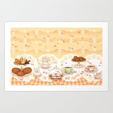 Dutch Tea Party Art Print