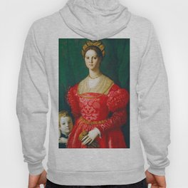 Agnolo Bronzino  -  A Young Woman And Her Little Boy Hoody