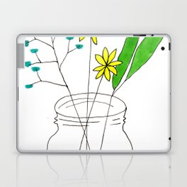 mason jar flower arrangement Laptop & iPad Skin