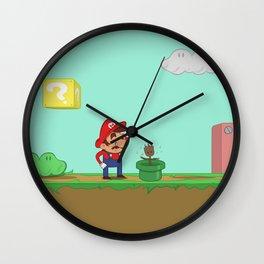 Mario is confused. Wall Clock
