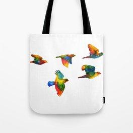 Rainbow Flight Tote Bag