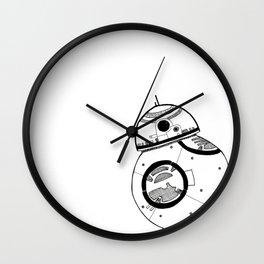 Monochromatic BB8 Wall Clock