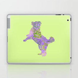 Bernese Mountain Dog Vintage Floral Pattern Purple Lilac Lavender Green Pink Laptop & iPad Skin