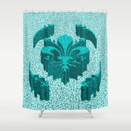 Florentine Teal Garden Shower Curtain