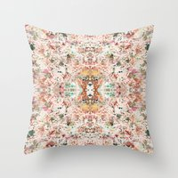 minerals Throw Pillows featuring Mystic Minerals by Caroline Sansone