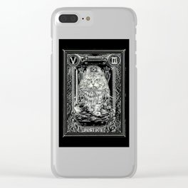JUSTICE of Tarot Cat Clear iPhone Case