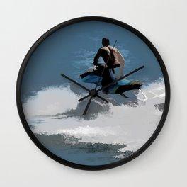 Making Waves - Jet Skier Wall Clock