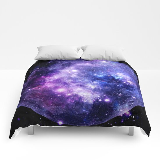 Galaxy Planet Purple Blue Space by vintageby2sweet