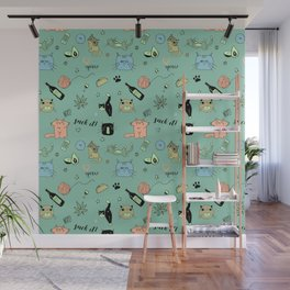 90% Cats Wall Mural