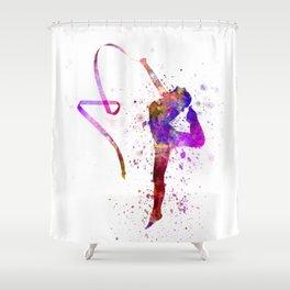 Rhythmic Gymnastics 02 Shower Curtain