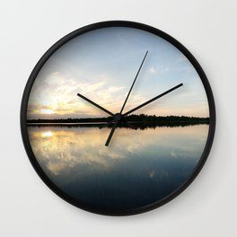 Glass lake Wall Clock