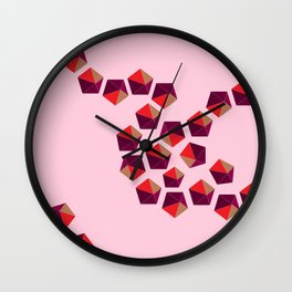 Pentagons Dancing Wall Clock