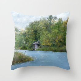 Secluded in Cape Cod Throw Pillow
