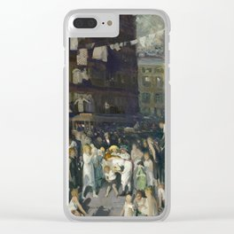 George Bellows - Cliff Dwellers, 1913 Clear iPhone Case