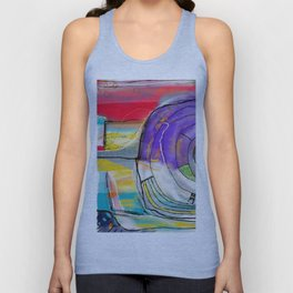 Abstract Summer Land Unisex Tank Top