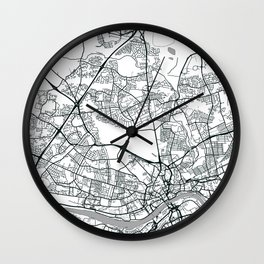 Newcastle Upon Tyne, United Kingdom - City Map Wall Clock