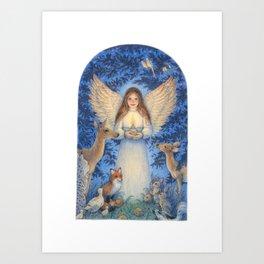 Woodland Angel Art Print