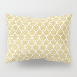 Mermaid Tail Pattern  |  Gold Glitter Pillow Sham