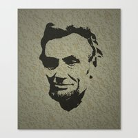 lincoln Canvas Prints featuring Lincoln by Charles Emlen