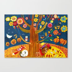November... The bears usually dreams about the Spring. Canvas Print