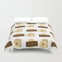 british Duvet Covers featuring British Biscuit by Doodleby