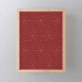 OU Crimson red - red - Modern Vector Seamless Pattern Framed Mini Art Print