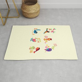 Flower and bird Rug