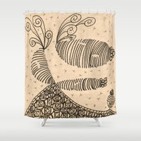 bugs Shower Curtains featuring Slug Bugs by Lady Tanya bleudragon