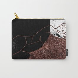 Pink Glitter Nude One Line Carry-All Pouch