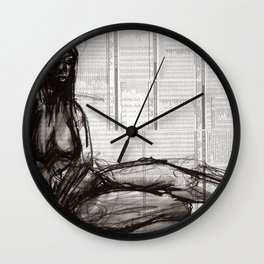 Relaxing by the Sea Wall Clock