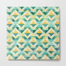 Quilted Diamond // Geometric Watercolor Pattern Metal Print