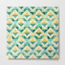 Quilted Diamond // Geometric Watercolor Pattern Metal Print