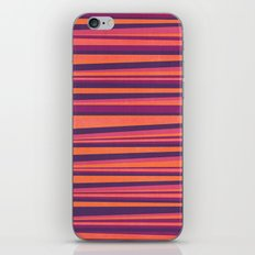 Happy Horizontal Lines Pink Version iPhone Skin
