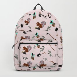 Farm Silhouette Pattern Design Backpack