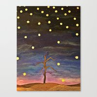 wtnv Canvas Prints featuring Partially Stars by Xandretha
