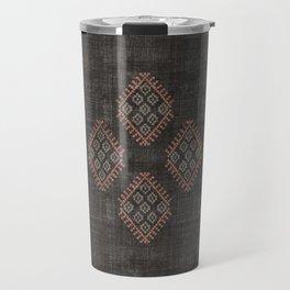 Kilim in Black and Pink Travel Mug